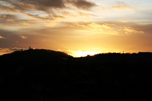 Sonnenuntergang über Bamberg